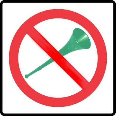 ban the vuvulela - NO vuvuzela