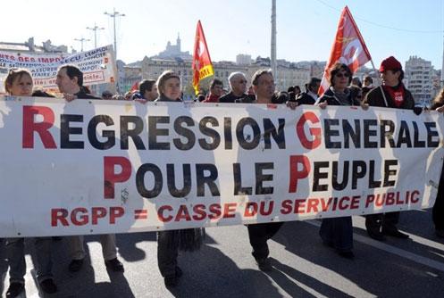 Manifestation contre la RGPP