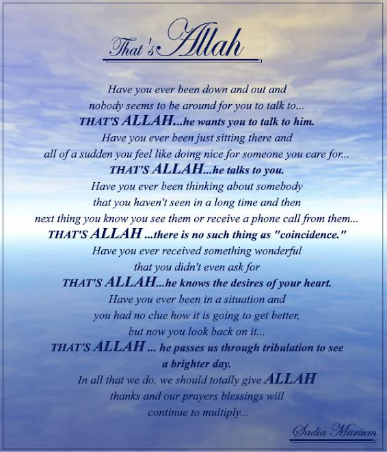 Allah and human