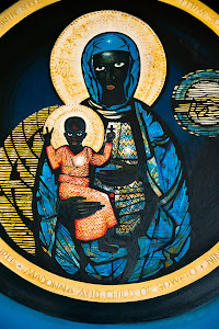 Depiction of Madonna and Child in Regina Mundi Catholic Church, Soweto, Johannesburg, South Africa © Matt Prater