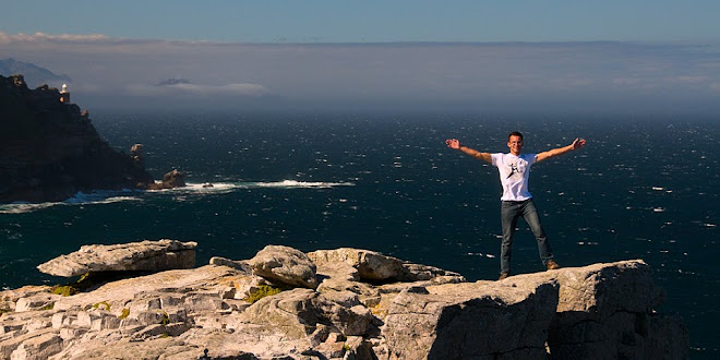Braving the wind, Cape of Good Hope, South Africa