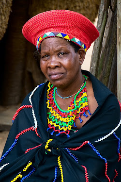 Married Zulu woman in DumaZulu Traditional Village in Hluhluwe, South Africa © Matt Prater