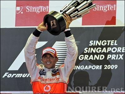 Lewis Hamilton Singapore Night Race