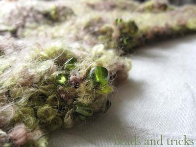 sciarpa verde dorato