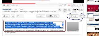 Cara Memasukkan Video Youtube Ke Posting Blog