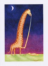 'High Altitude Toothpaste' Giraffe Card