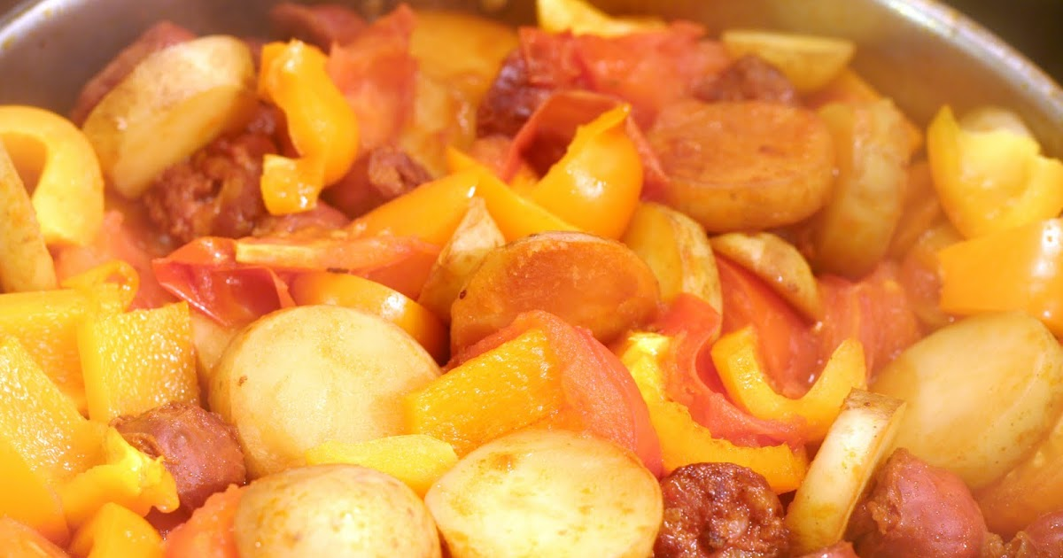 Antics of a cycling cook: Haddock with chorizo, peppers and potatoes