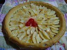 Tarta de manzana ligera
