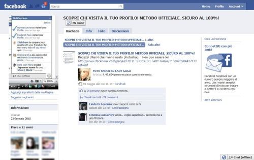 Protezione account falso gruppo su facebook 39 scopri chi for Scopri chi visita il tuo profilo instagram
