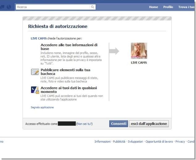 Protezione Account: Live Cams, il ritorno della falsa applicazione spam su Facebook