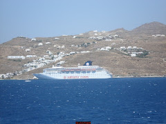 A CRUISE SHIP IN MYKONOS
