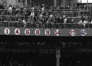 red sox retired numbers at fenway park in boston massachusetts