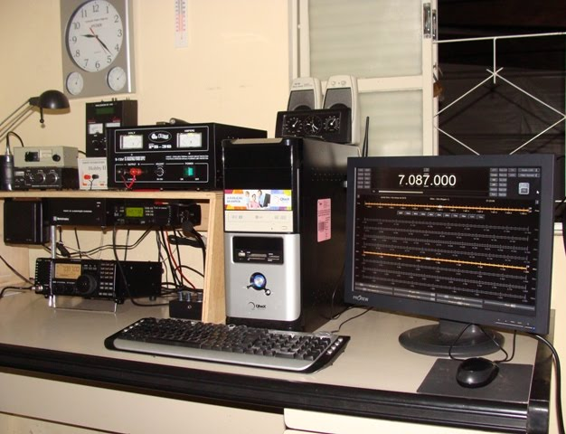 INTERFACE PARA CONTROLE DO RADIO IC-718 VIA PC (PROGRAMA HAMRADIODELUXE)
