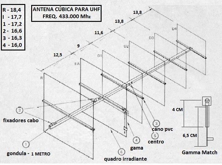 ANTENA DE UHF - 6 ELEMENTOS