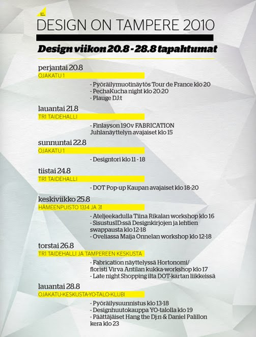 Design On Tampere elokuuta 2010