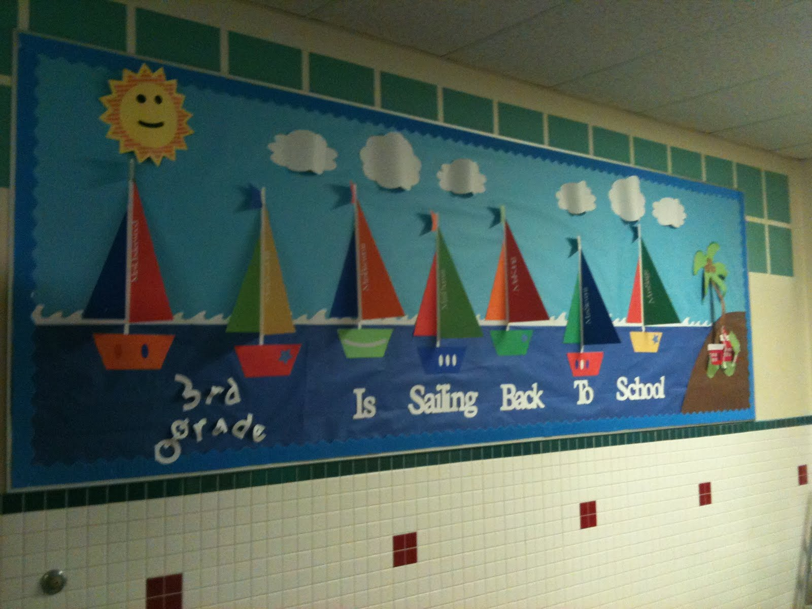 Child centered teaching back to school bulletin boards for Back to school board decoration
