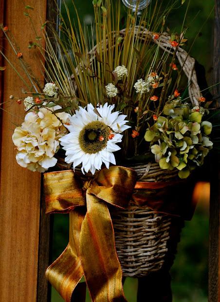 Fall Door Basket Decoration