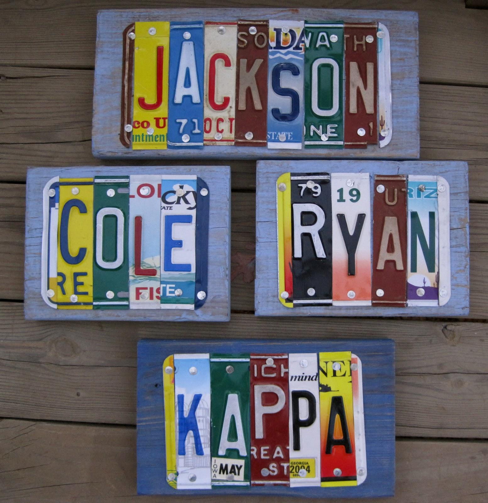 License Plate Art Amanda Jane Brown
