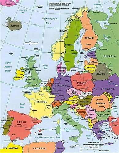 mapa de europa mudo. volver a viajar a Europa,