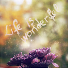 Life is wonderful...treasure it every minute