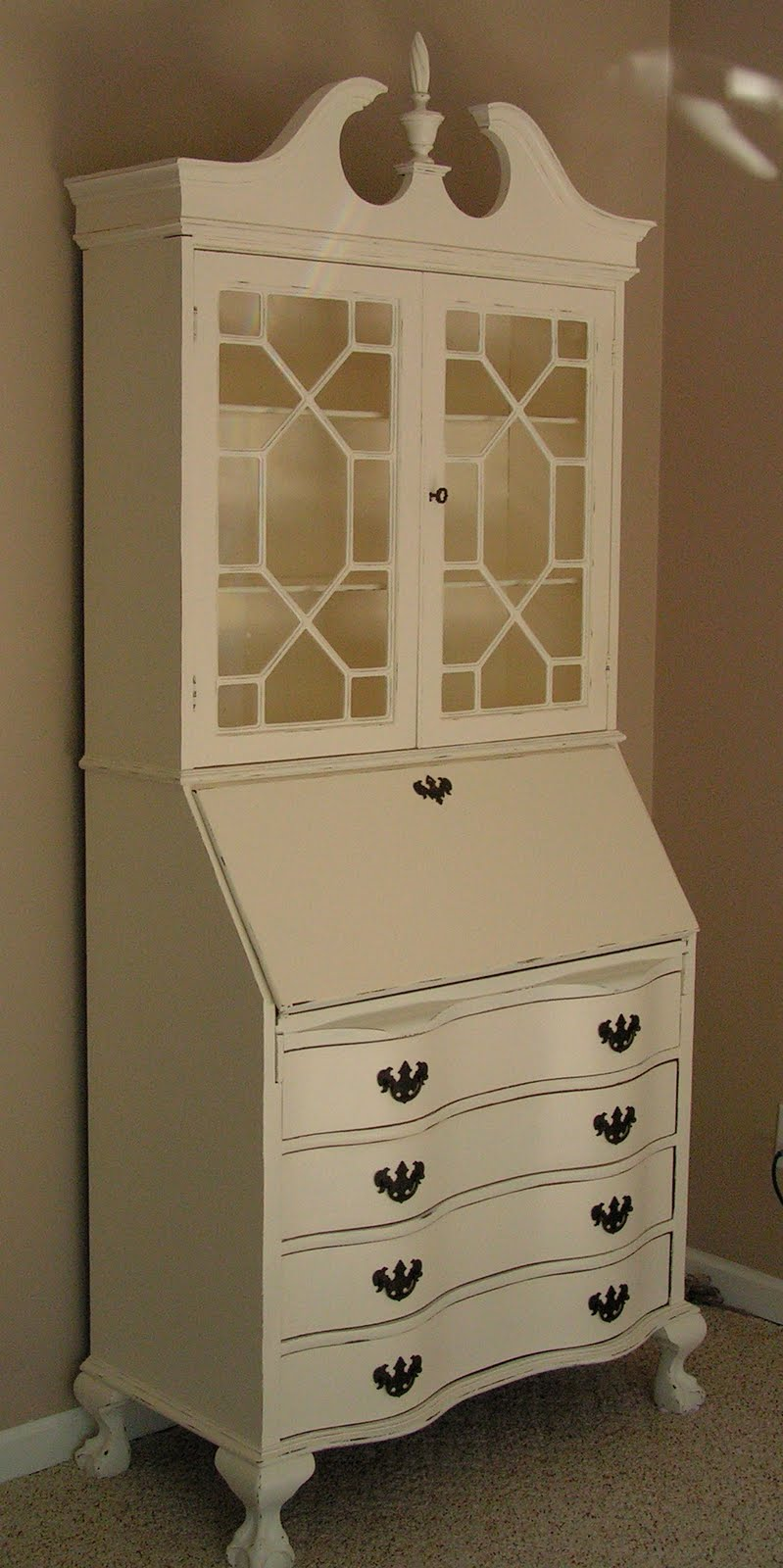 Chic Cottage Junk: Antique Secretary Desk Re-Fab(ulous)!