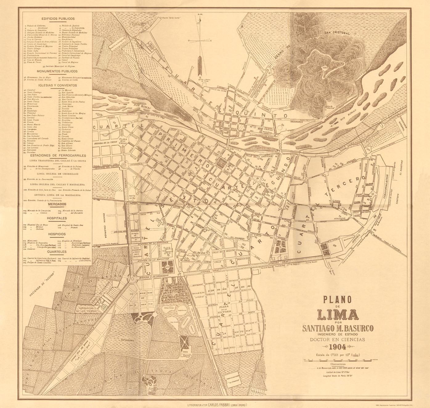 Planos De Lima Antigua Plano De Lima A O 1904 Santiago