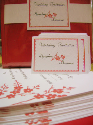 Red and White Wedding Invitation. Ben & Dymphna: tying the knot!