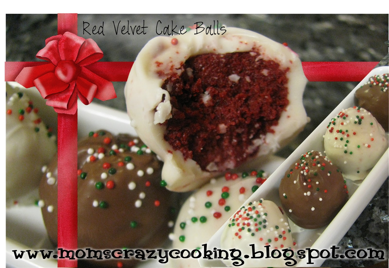 Images Of Red Velvet Cake Balls : MOMS CRAZY COOKING: 12 DAYS OF CHRISTMAS GOODIES: Red ...
