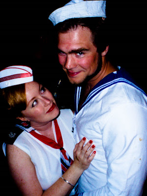 1950s sailor couple