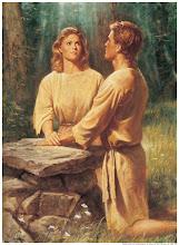 Adão e Eva diante do altar