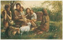 Adão e Eva ensinam os filhos