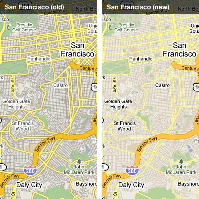 Google Maps mejora la representación de sus mapas Versa4