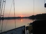 Beautiful Sunset Cedar Point,  Yeocomica river