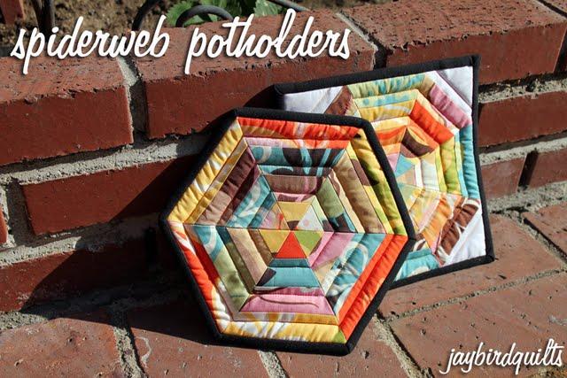 Spiderweb Potholders Tutorial Jaybird Quilts