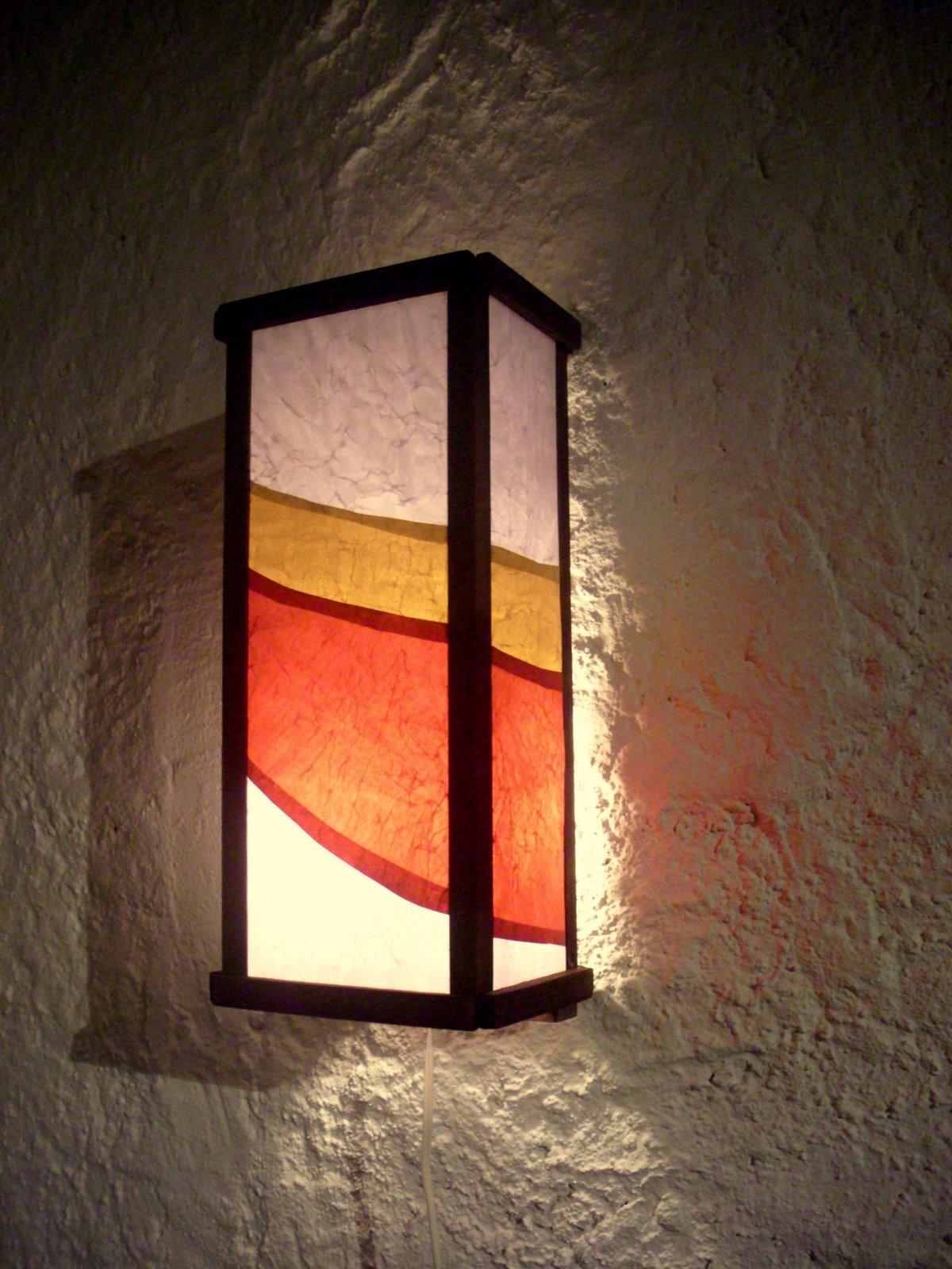 Apliques de pared l mparas artesanales for Apliques de pared baratos