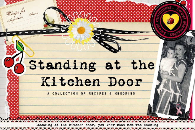 Standing at the kitchen door