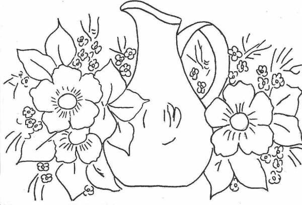 riscos de flores pintura em tecido