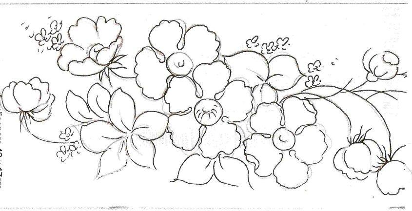 Desenhos Para Pintura Pano Prato Flores Tulipas And Post Riscos | Car ...