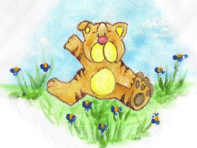 pintura em tecido infantil fralda tigrinho