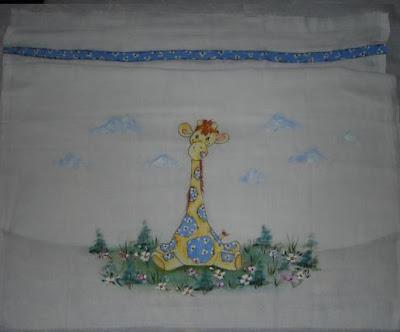 pintura em tecido infantil girafa