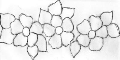 pintura em tecido risco flor simples