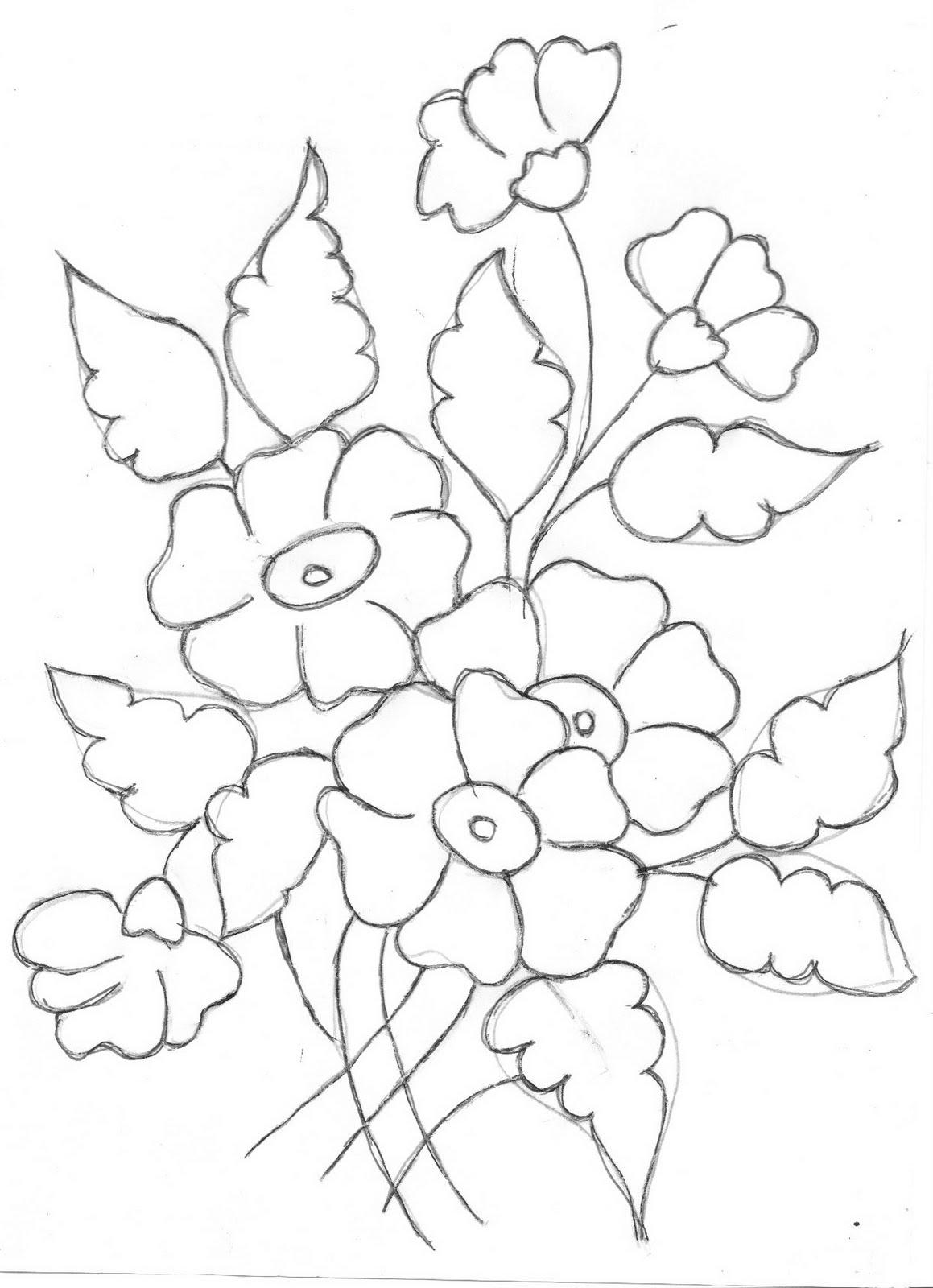 pintura em tecido riscos flores