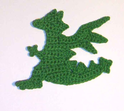 Free Crochet Pattern - Dragon Applique from the Animals Free