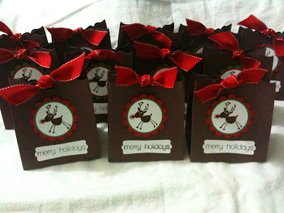 Winter Christmas Wedding Favors