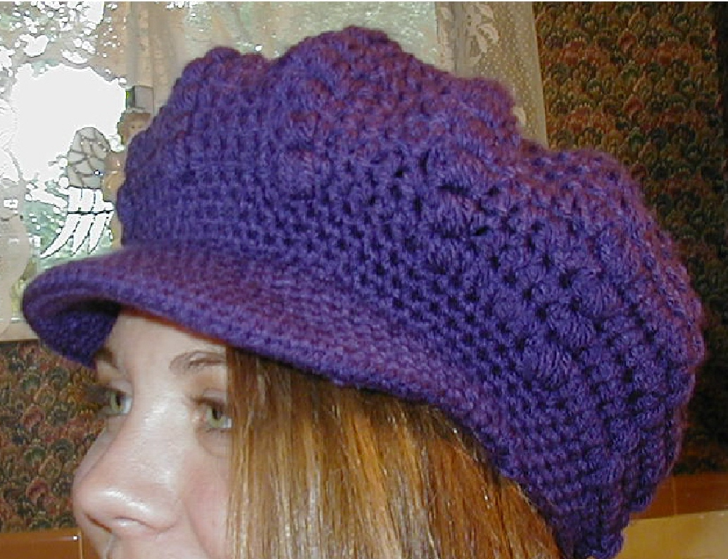 Free Crochet Pattern Toddler Newsboy Cap : Positively Crochet!: FREE Cochet Pattern