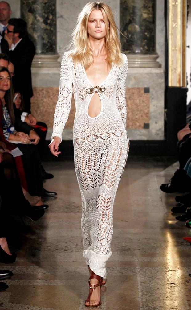 Positively Crochet!: Crochet Dresses - Sfilata Salvatore Ferragamo ...
