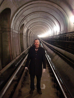 Me in the Rotherhithe tunnel