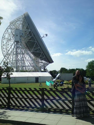The Dr and a tall dish.
