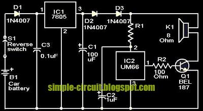 simple circuit design simple car reverse horn circuit with music rh simple circuit blogspot com 1963 Corvette Horn Circuit musical car reverse horn circuit diagram