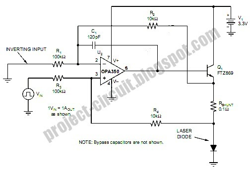 free project circuit diagram  laser diode driver circuit